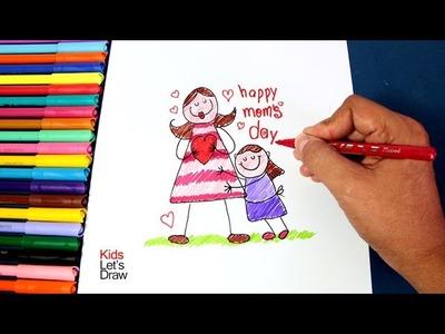 Cómo hacer un Dibujo para Mamá (fácil y rápido) | Dibujos por el Día de la Madre