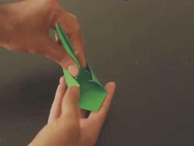 Como hacer un helicóptero de adorno  Origami helicóptero