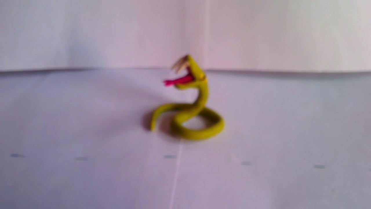 Como hacer una serpiente de plastilina