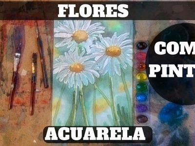 Como pintar flores con acuarela