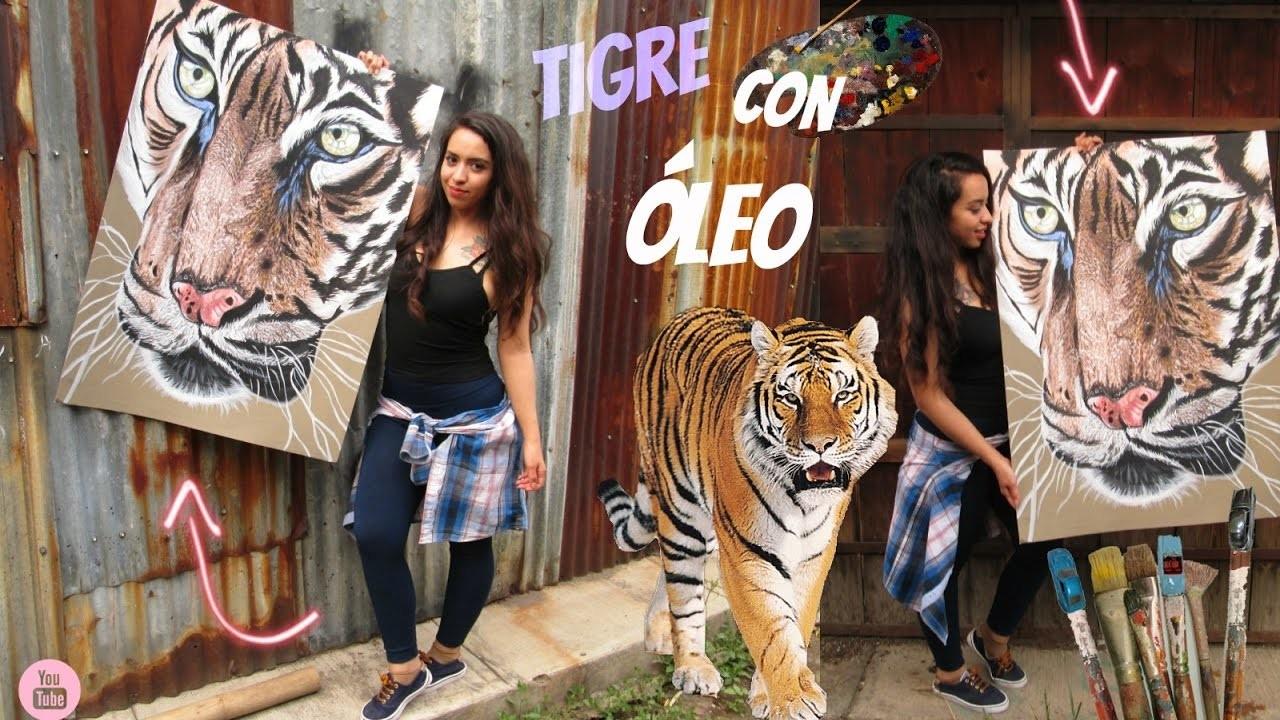 COMO PINTAR UN TIGRE REAL DIY+ HOW TO DRAW ONE TIGER REALISTIC
