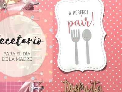 Cuaderno de Recetas de Cocina  | Regalo del Día de la Madre  | Scrapbooking