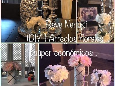 (DIY) cómo hacer un arreglo de flores ???? para decorar súper fácil y económicos .