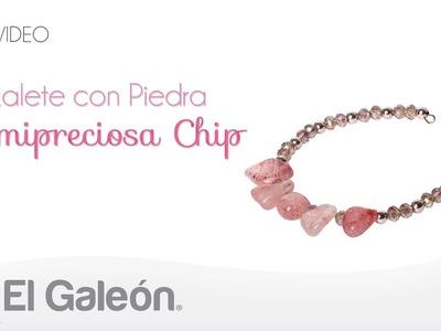 DIY El Galeón Brazalete con Piedra Semipreciosa Chip