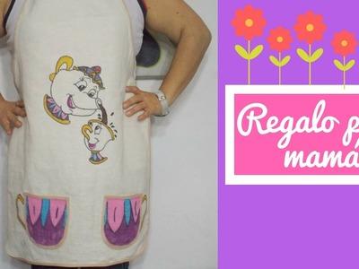 #DomingoDeCreaciones 3| DIY Mandil para tu mamá