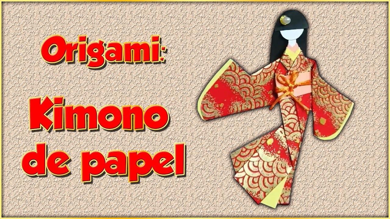 Kimono de papel de Origami