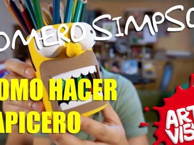 LAPICERO DE HOMERO SIMPSON. DIY. CÓMO HACER - ARTE VISUAL