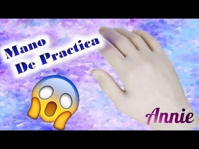 Mano de practica. DIY nail art