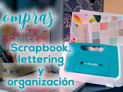 Mi primer vídeo de compras: scrapbook, lettering y organización