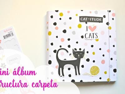 Mini álbum scrapbooking fácil estructura de carpeta + Tutorial | Scrapeando con Rocío