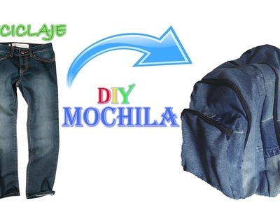 MOCHILA DE JEAN | RECICLAJE | DIY