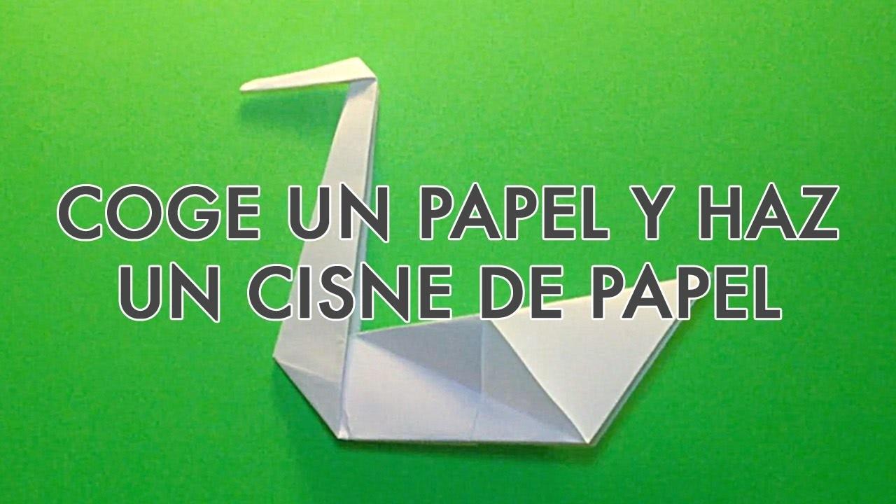 ORIGAMI y PAPIROFLEXIA | Coge un folio y haz un CISNE DE PAPEL