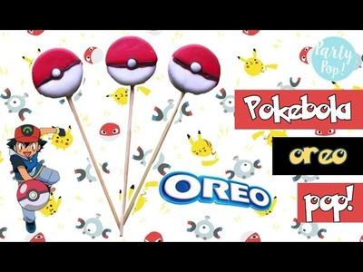 Pokebola oreo pop DIY - POKEMON (Postre sin horno) ????| Party pop!???? |