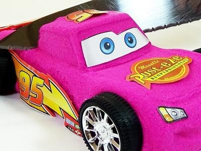 RAYO MCQUEEN DISNEY PIXAR CARS 3 DE ARENA KINÉTICA. (DIY EN ESPAÑOL)