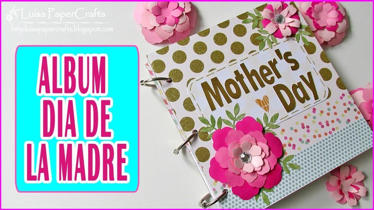 Album scrapbook facil dia de la madre pin by frog tienda - Regalos para el dia de la madre manualidades ...