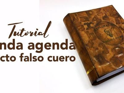 Tutorial funda agenda falso cuero - Planner Cover