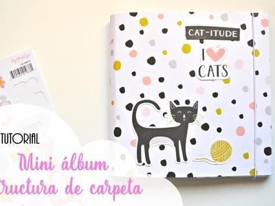 Tutorial mini álbum con estructura de carpeta | Scrapbookpasion
