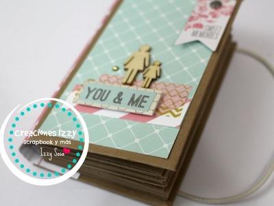 Tutorial Mini Album para mamá - Scrapbook para mamá * Creaciones Izzy