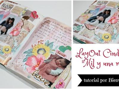 Tutorial paso a paso Layout Scrapbook en un diario