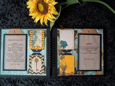 TUTORIAL Scrapbooking Mini Album - La Vida en Verso
