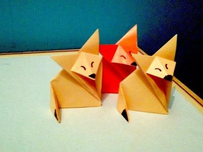 Zorro de Origami fácil (Papiroflexia)