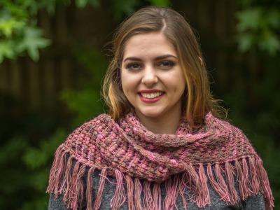 1 Chal o shawl a crochet punto escobitas