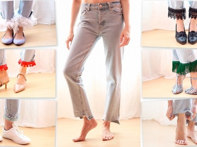 5 ideas desmontables para renovar unos jeans en 5 outfits | how to customize jeans removably