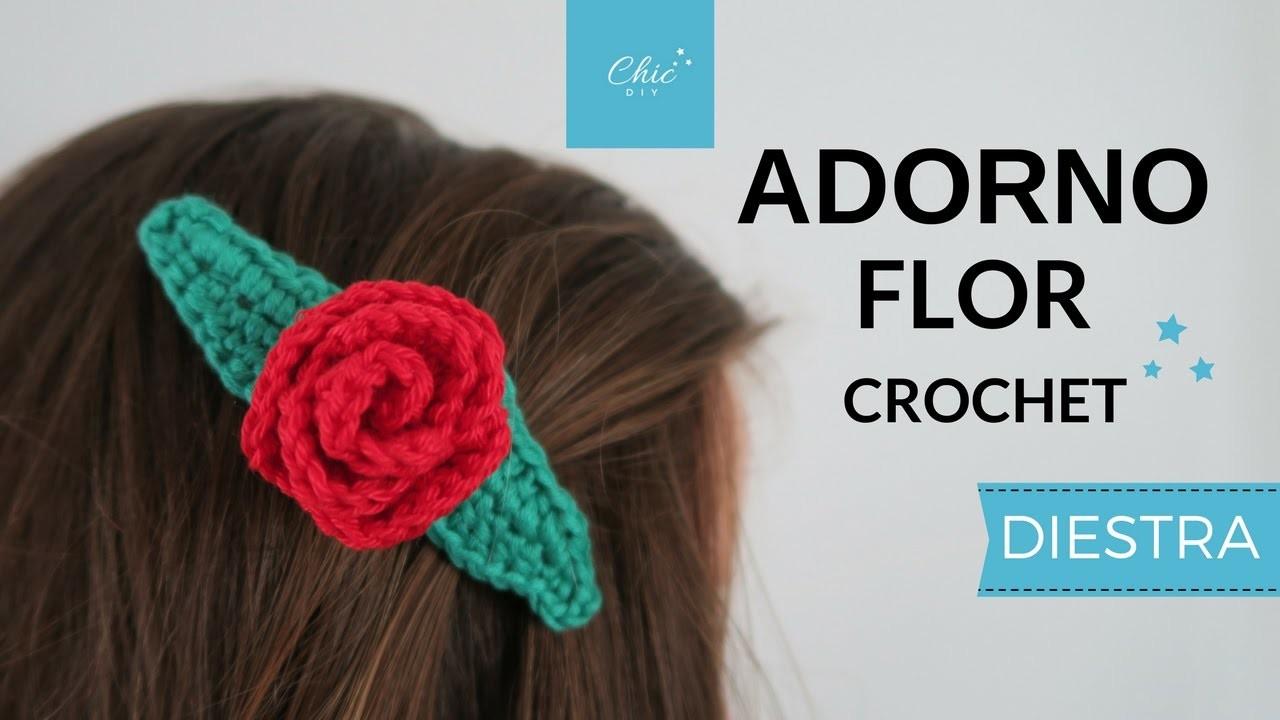ADORNO FLOR A CROCHET | DIESTRA | CHIC DIY