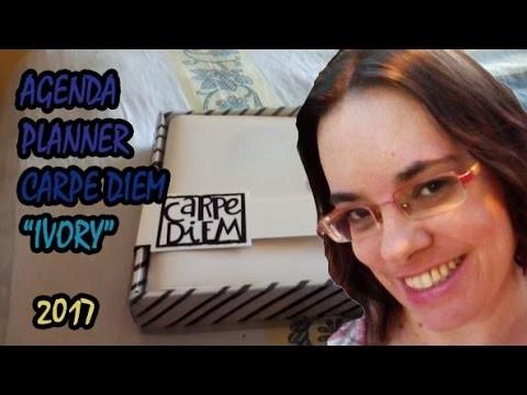 AGENDA PLANNER -  CARPE DIEM IVORY - 2017
