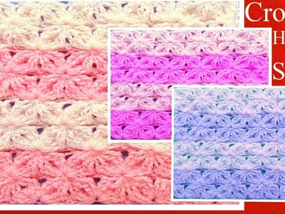 Aprende a tejer fácil a Crochet punto de lazos con alto relieve How to Learn Crochet