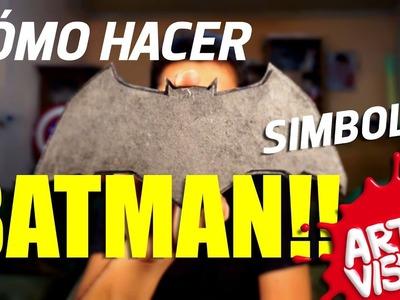 ARTE VISUAL - BATMAN COMO HACER SÍMBOLO #AbrilVideosMil DIY #DCComics #JUSTICELEAGUE