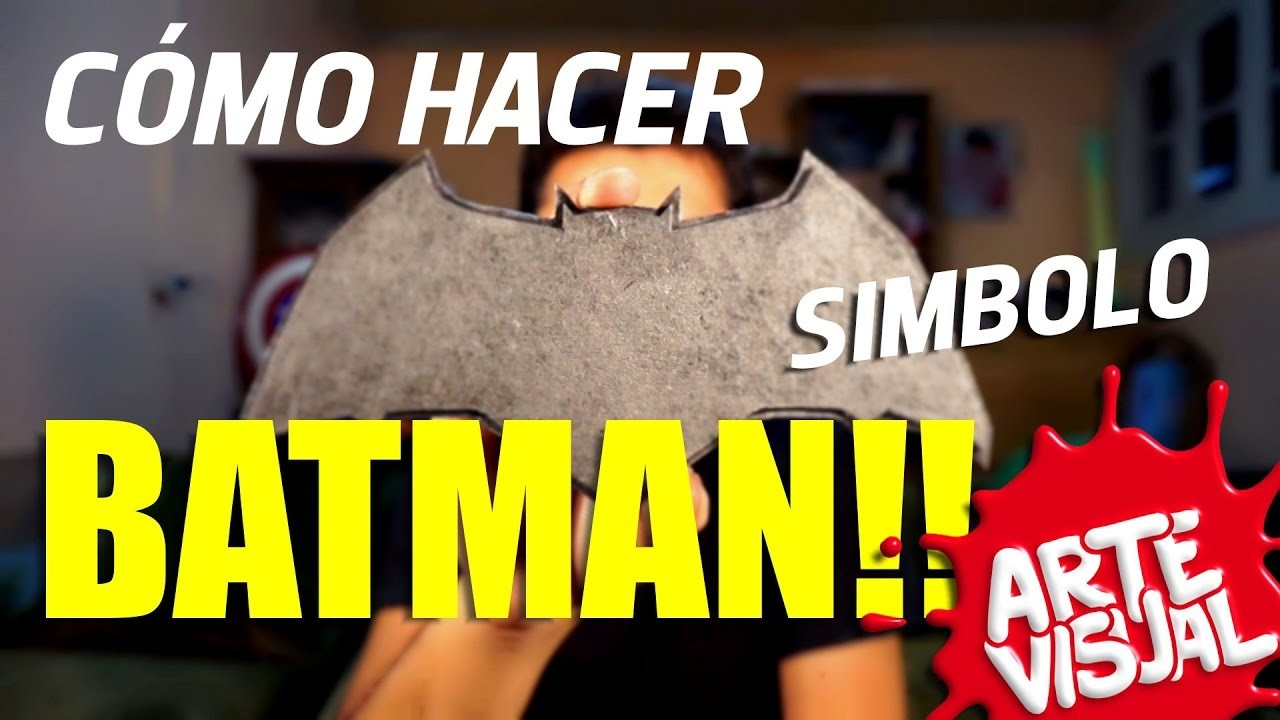 ARTE VISUAL - BATMAN COMO HACER SÍMBOLO #AbrilVideosMil DIY #DCComics #JUSTICELEAGUE