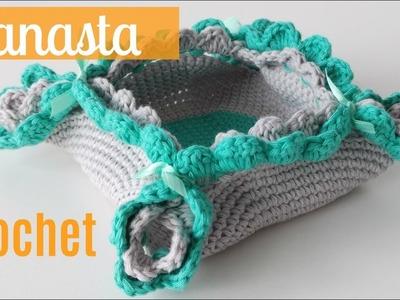 Canasta crochet para mesa