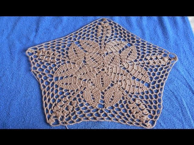 Carpeta tejida a crochet  paso a paso  facil y rapido  #1