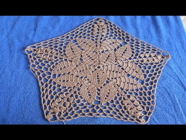 Carpeta tejida a crochet paso a paso facil y rapido # 2