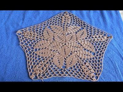 Carpeta tejida a crochet paso a paso facil y rapido # 3