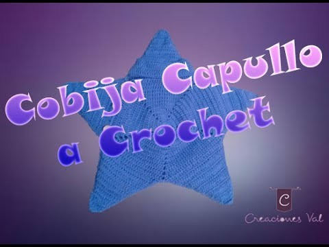 Cobija Capullo Estrellita a Crochet para bebé - Parte 1