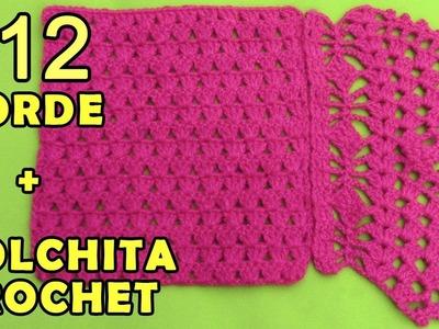 Colchita o Mantita para bebé tejido a crochet paso a paso y Borde #12