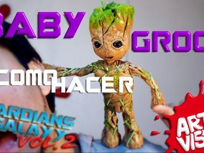 CÓMO HACER a BABY GROOT de GUARDIANES DE LA GALAXIA!! DIY @Guardians @Marvel @MarvelLATAM