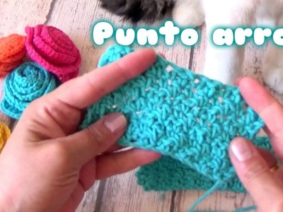 COMO HACER EL PUNTO ARROZ A CROCHET | point de riz a crochet
