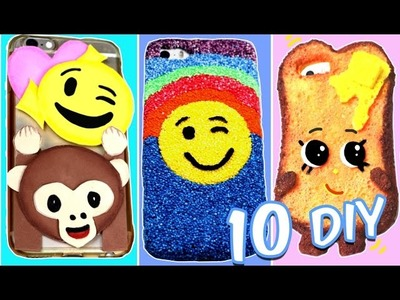 COMO HACER FUNDAS para MOVIL o CELULAR CASERAS Y FACILES .10 DIY ORIGINALES | Ideas FACILES DIY