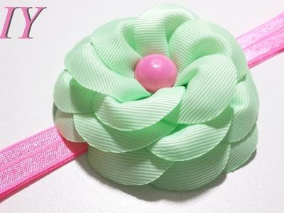 Como Hacer Lazos ???? DIY #97 Flor en Cinta Gros Tutorial