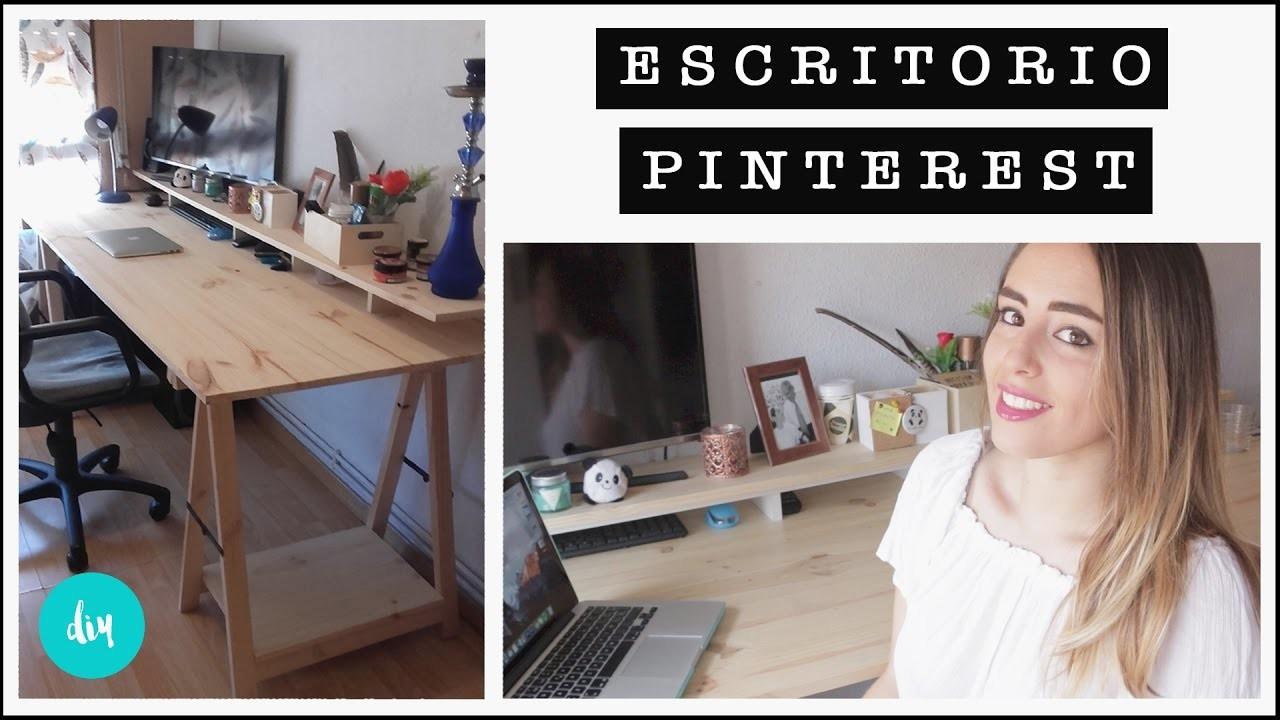 C mo hacer un escritorio de madera pino diy pinterest for Como hacer una mesa de escritorio