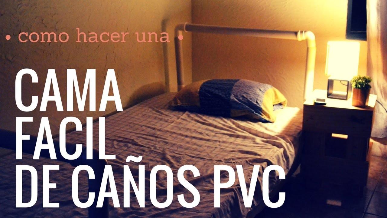 COMO HACER UNA CAMA DE CAÑOS PVC.pvc pipe ♥ - EMPODERADAS LATAM DIY