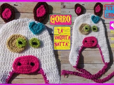 Cómo Tejer Gorro de la Vaquita Natta a Crochet por Maricita Colours