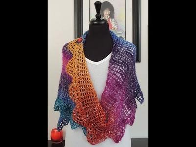 Crochet: Chal Asimetrico Triny