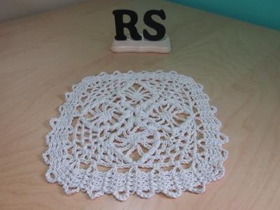 Crochet cuadrado facil con encaje de brujas para principiantes