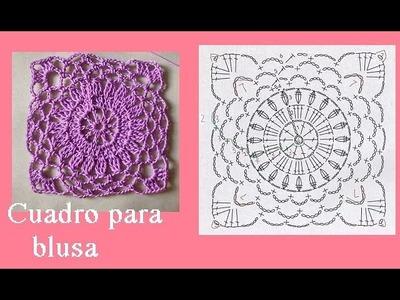 Cuadro a crochet para diferentes diseños de blusa ( parte 1)