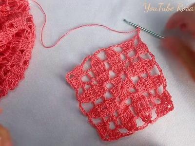 Cuadro a Crochet para colchas,mantel,cojines y blusas.