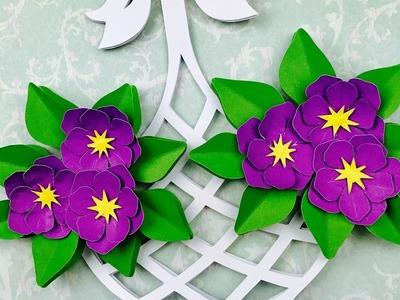 CUADRO CON FLORES EN 3D | FLORES DE PAPEL | 3D PAPER FLOWERS FRAME